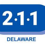 Logo for 211 basic needs support in Delaware